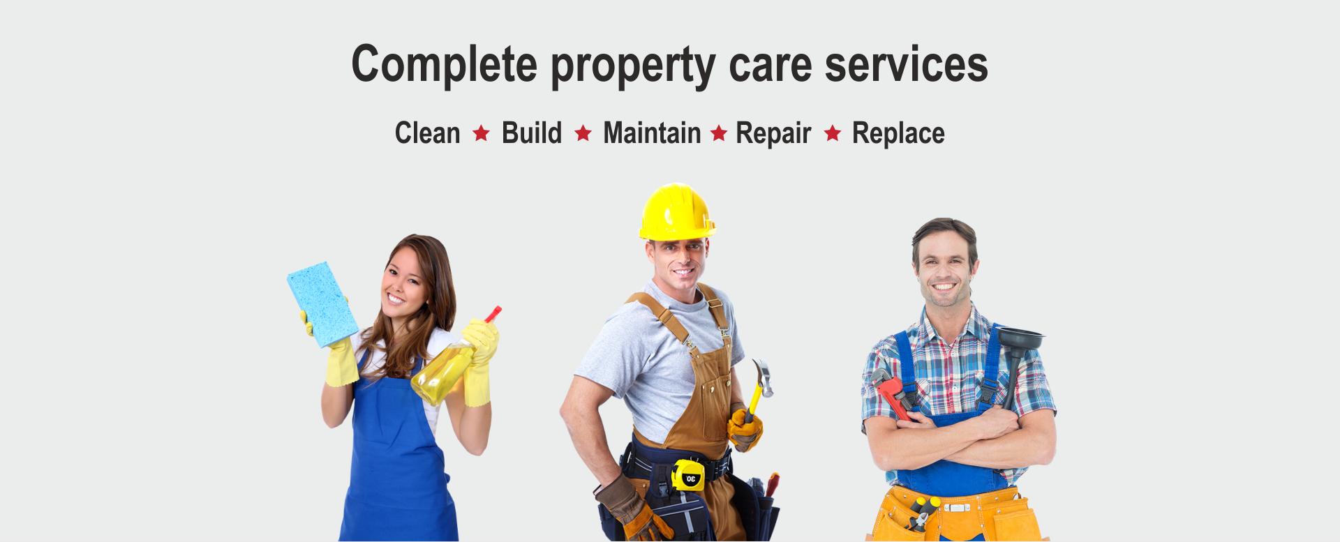 Clean Build Maintain Repair Replace